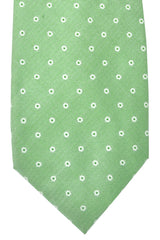 Barba Sevenfold Tie Green Silver Circles