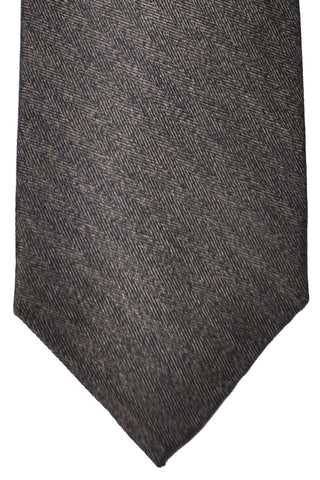 Barba Sevenfold Tie Taupe Black Stripes