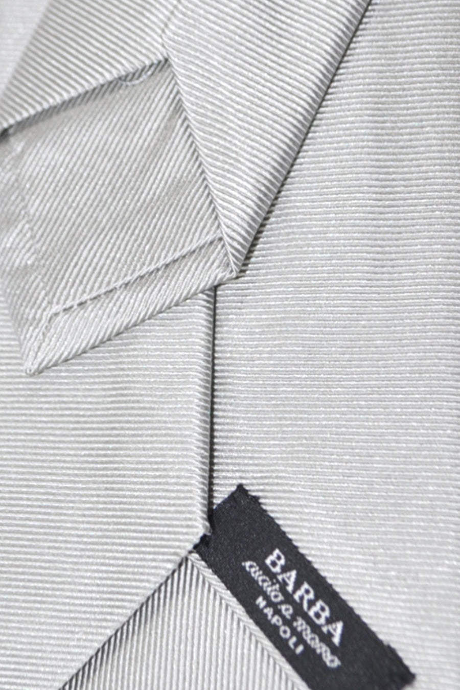 Barba Sevenfold Tie Gray Grosgrain