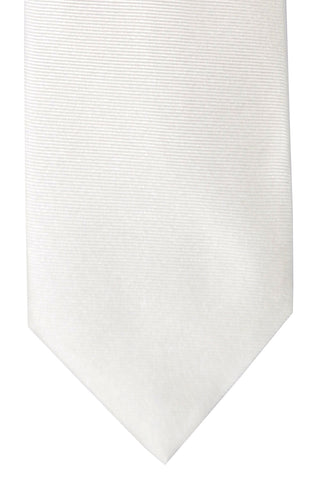 Barba Sevenfold Tie White Grosgrain SALE