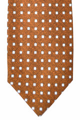 Barba Sevenfold Tie Brown White Blue Squares