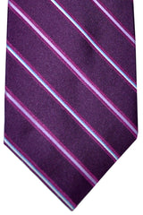 Barba Sevenfold Tie Purple Pink Stripes