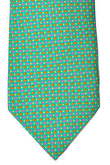 Franco Bassi Tie Green Pink Yellow Orange Geometric