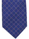 Battistoni Silk Tie Royal Blue Design - SALE