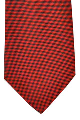 Battisti Sevenfold Tie Red Black Geometric