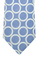 Battisti Tie Navy Silver Circles