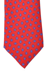 Battistoni Tie Red Navy Sea Star