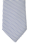 Battistoni Tie Navy White Shell