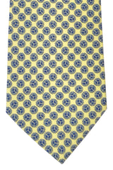 Battistoni Tie Yellow Navy Geometric