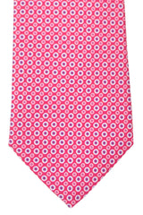 Battistoni Tie Pink Blue Circles