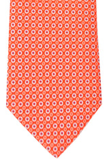 Battistoni Tie Orange Blue Circles
