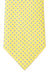 Battistoni Tie Yellow Blue Diamonds