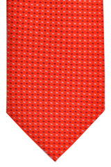 Battistoni Tie Red Aqua Dots Print