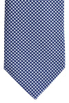 Battistoni Tie Navy White Houndstooth Print