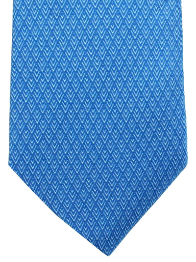 Battistoni Tie Blue Geometric Design - Spring / Summer 2018 Collection