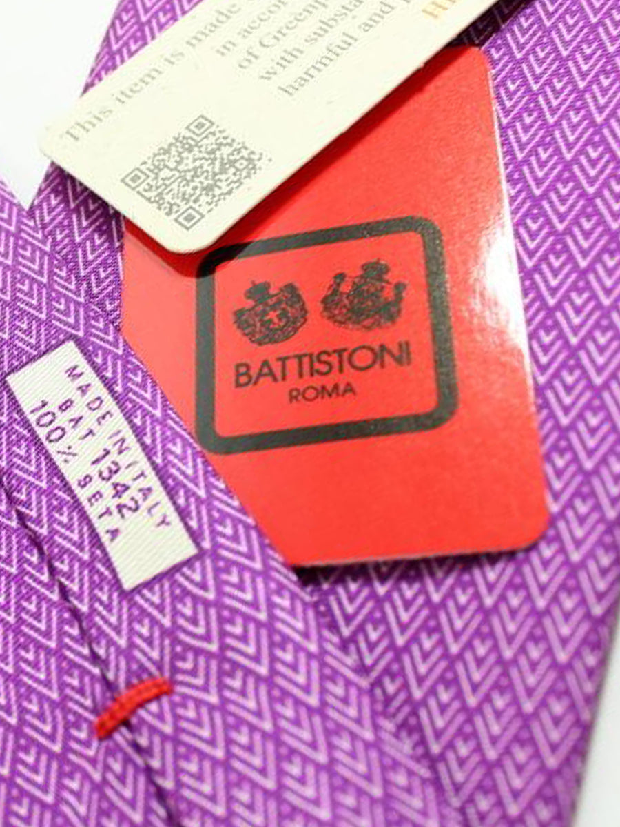 Battistoni Tie Purple Geometric Design - Spring / Summer 2018 Collection