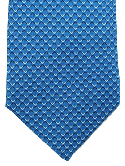 Battistoni Tie Dark Blue Check Design - Spring / Summer 2018 Collection
