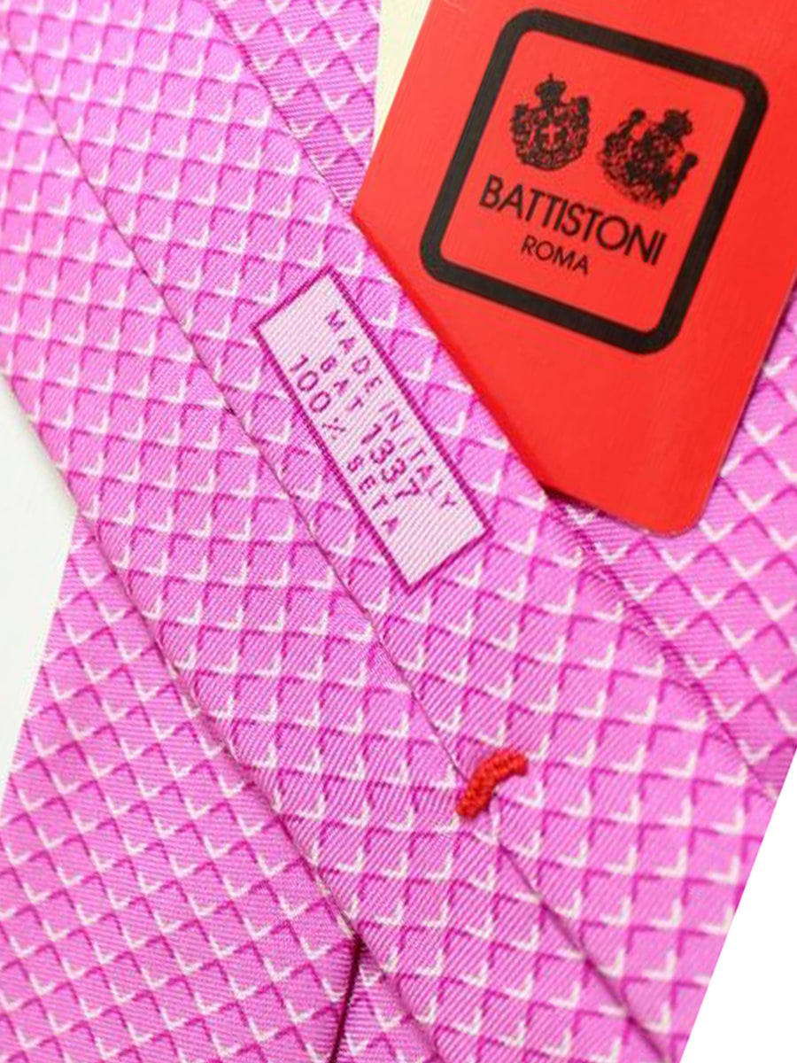 Battistoni Tie Pink Check Design - Spring / Summer 2018 Collection