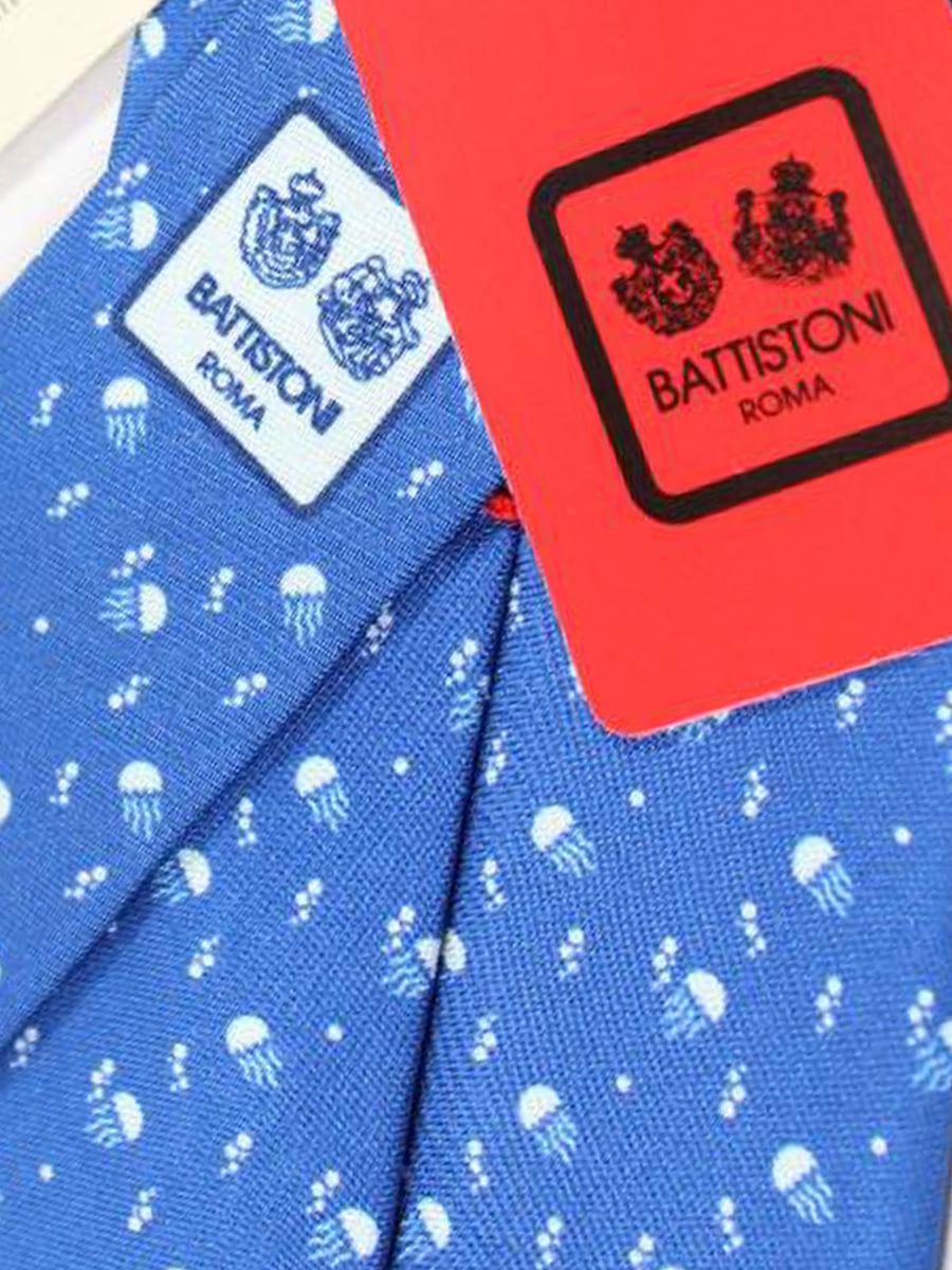 Battistoni Tie Navy Jellyfish Design - 2018 Collection