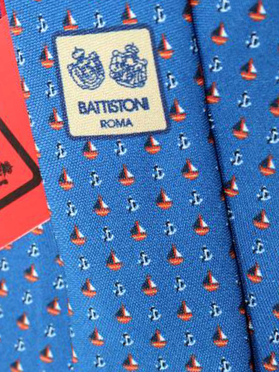 Battistoni Tie Navy Anchors Design - 2018 Collection