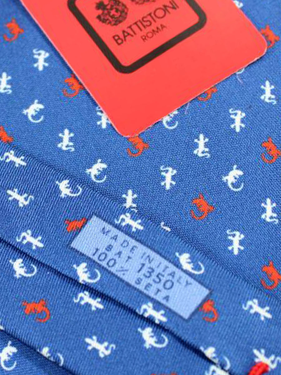Battistoni Tie Navy Geckos Design - 2018 Collection