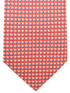Battistoni Silk Tie Red Pink Blue Geometric