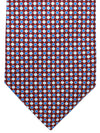 Battistoni Silk Tie Royal Burgundy Geometric