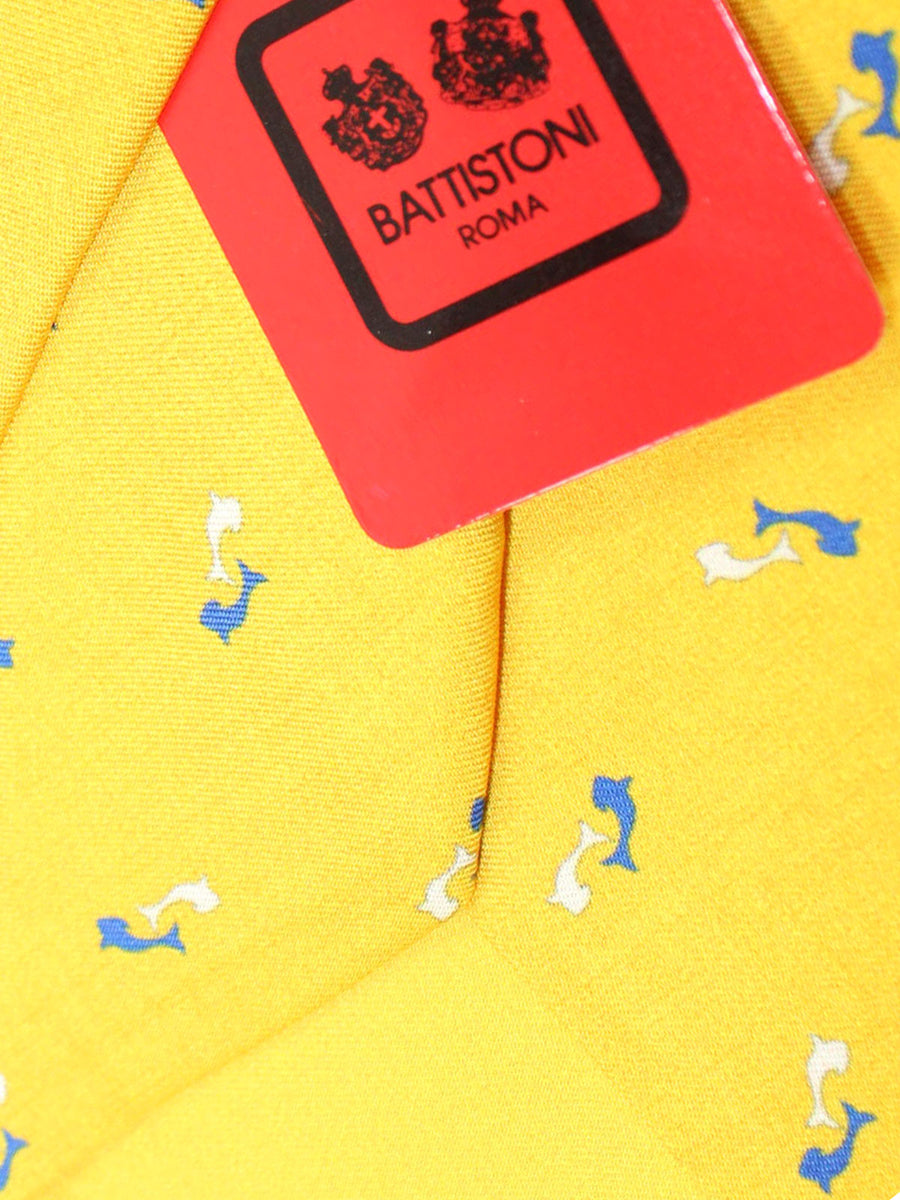Battistoni Silk Tie Yellow Fish