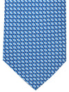 Battistoni Tie Navy Blue White Geometric Design - Spring Summer 2020