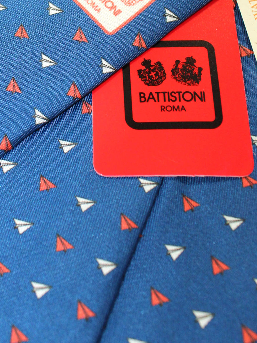 Battistoni Tie Navy Geometric Design - Spring Summer 2020