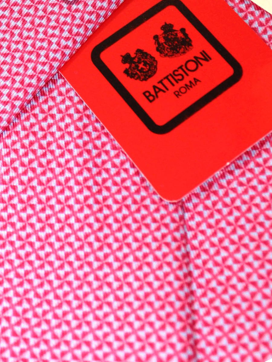 Battistoni Tie Pink Geometric Design - Spring Summer 2020