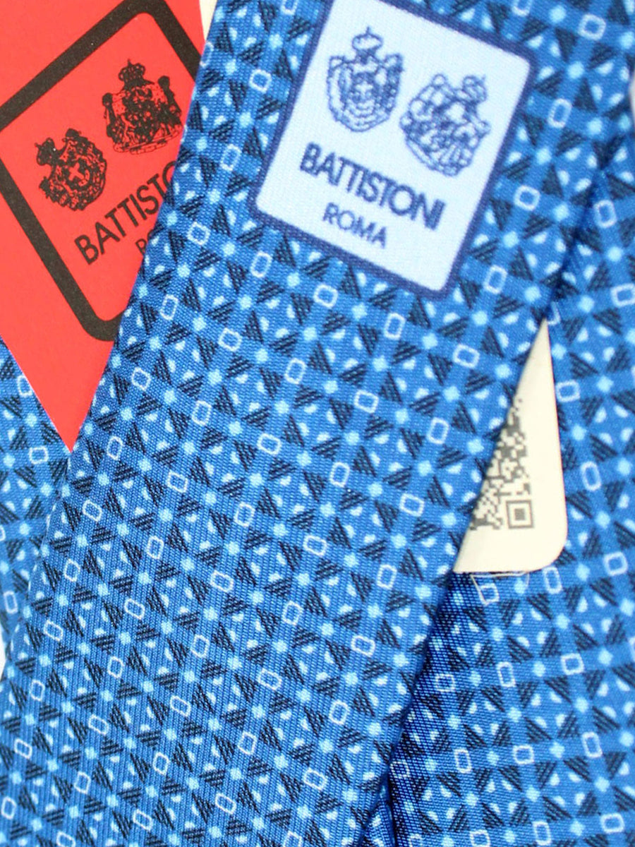 Battistoni Silk Tie Royal Navy Geometric - Spring / Summer 2020 Collection