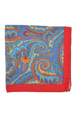 Battisti Silk Pocket Square Paisley
