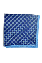 Battisti Silk Pocket Square Navy Blue