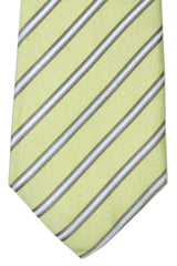 Battisti Sevenfold Tie Green Stripes SALE