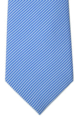 Battistoni Tie Blue White Stripes