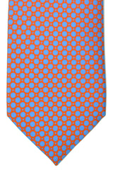 Battistoni Tie Red Blue Dots