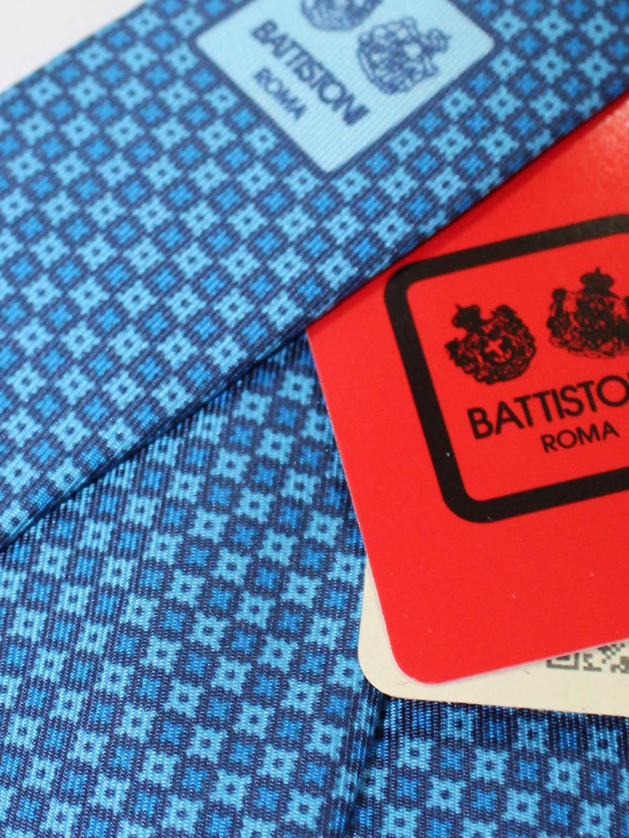 Battistoni Tie Blue Geometric
