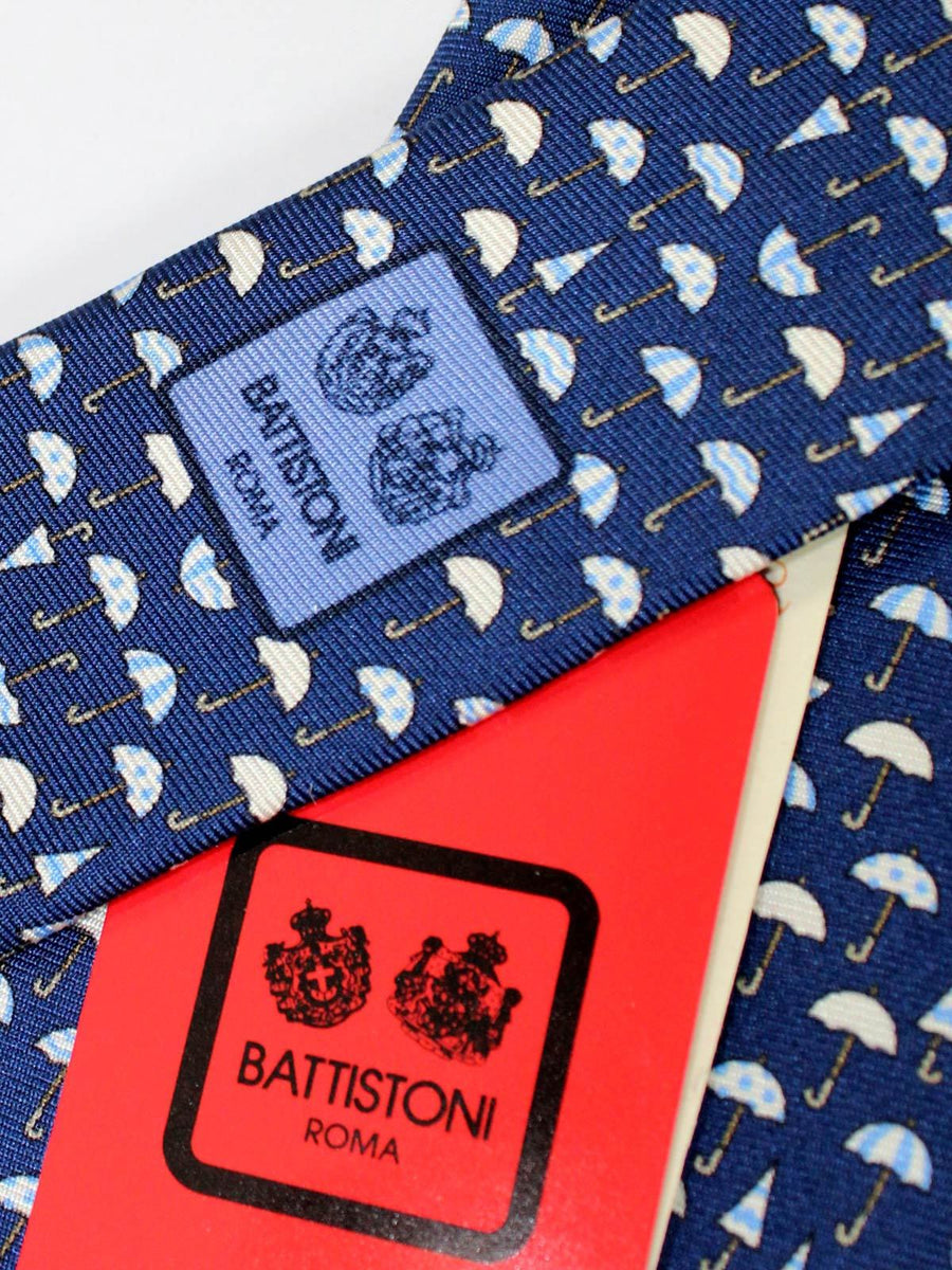 Battistoni Tie Navy Umbrella Novelty Design