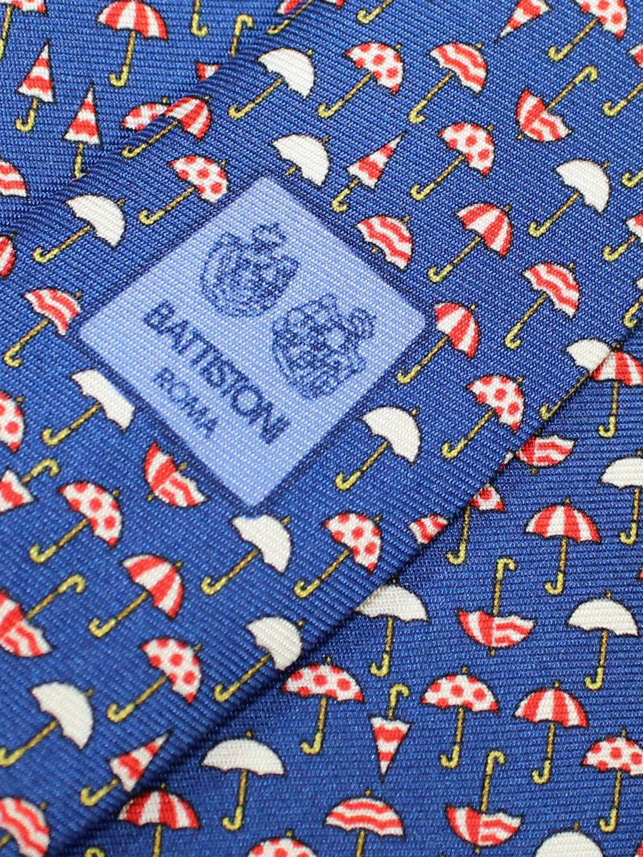 Battistoni Tie Royal Blue Umbrella Design - Spring Summer 2020