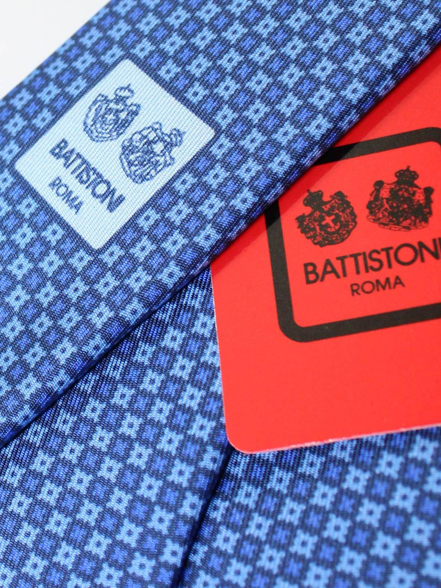 Battistoni Silk Tie Blue Geometric - 2020 Collection