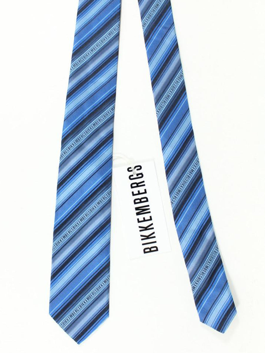 Bikkembergs Tie Blue Stripes Design