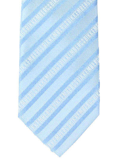 Bikkembergs Tie Sky Blue Stripes Design