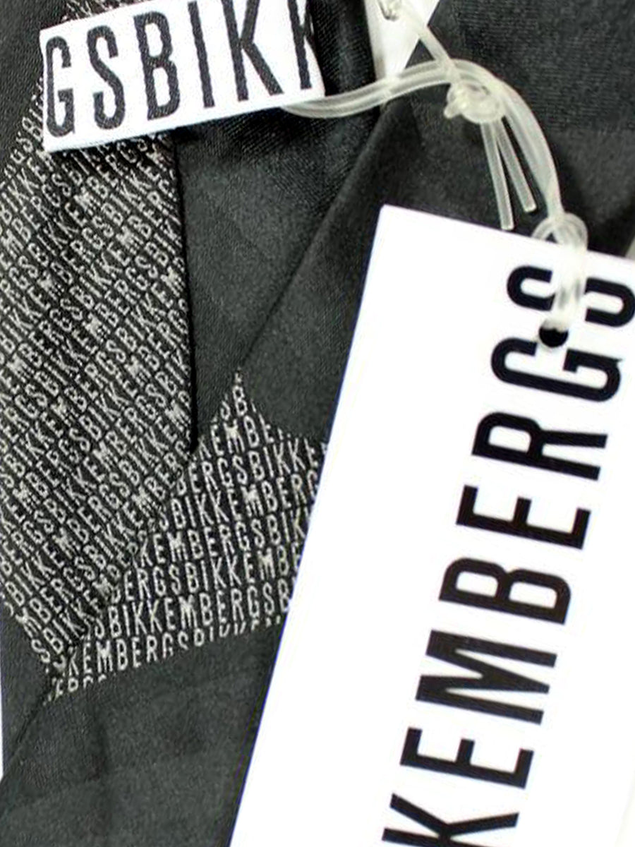 Bikkembergs Tie Black Gray Design