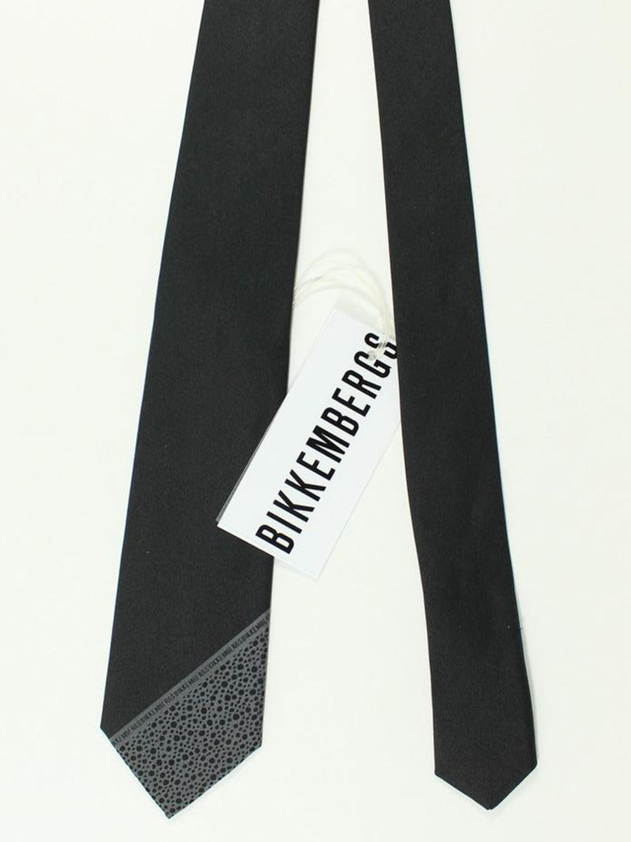 Bikkembergs Tie Black Dark Gray Design