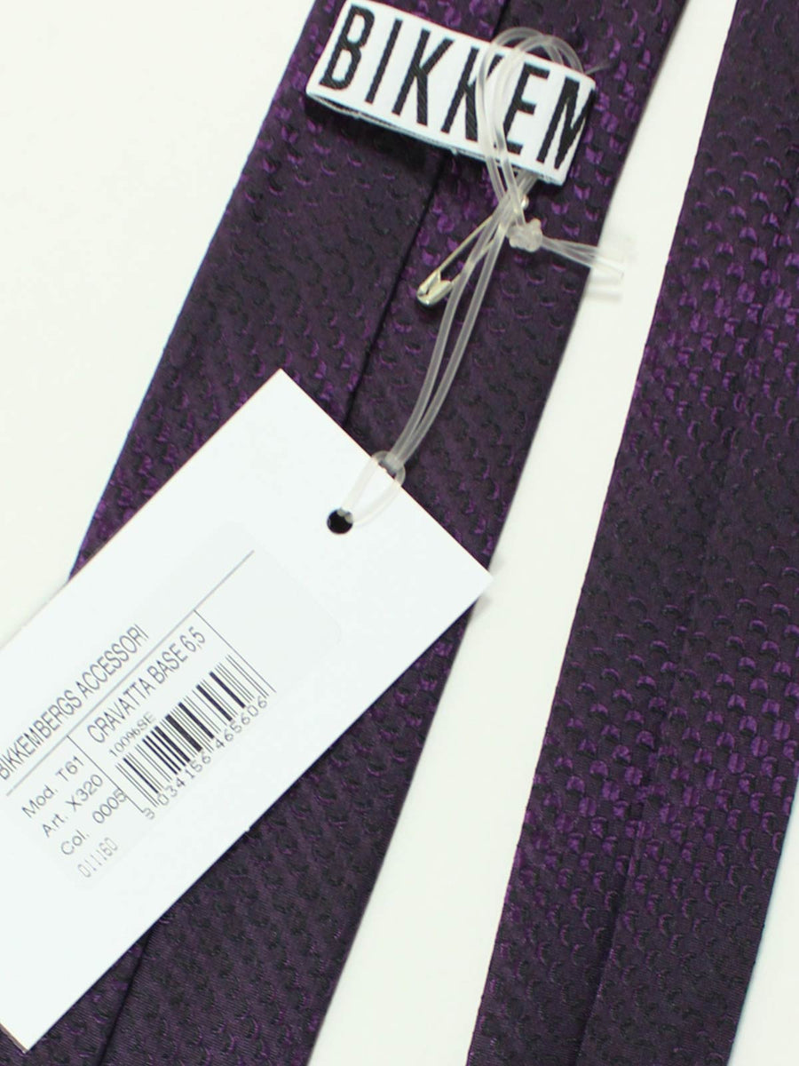 Bikkembergs Silk Tie Purple SALE