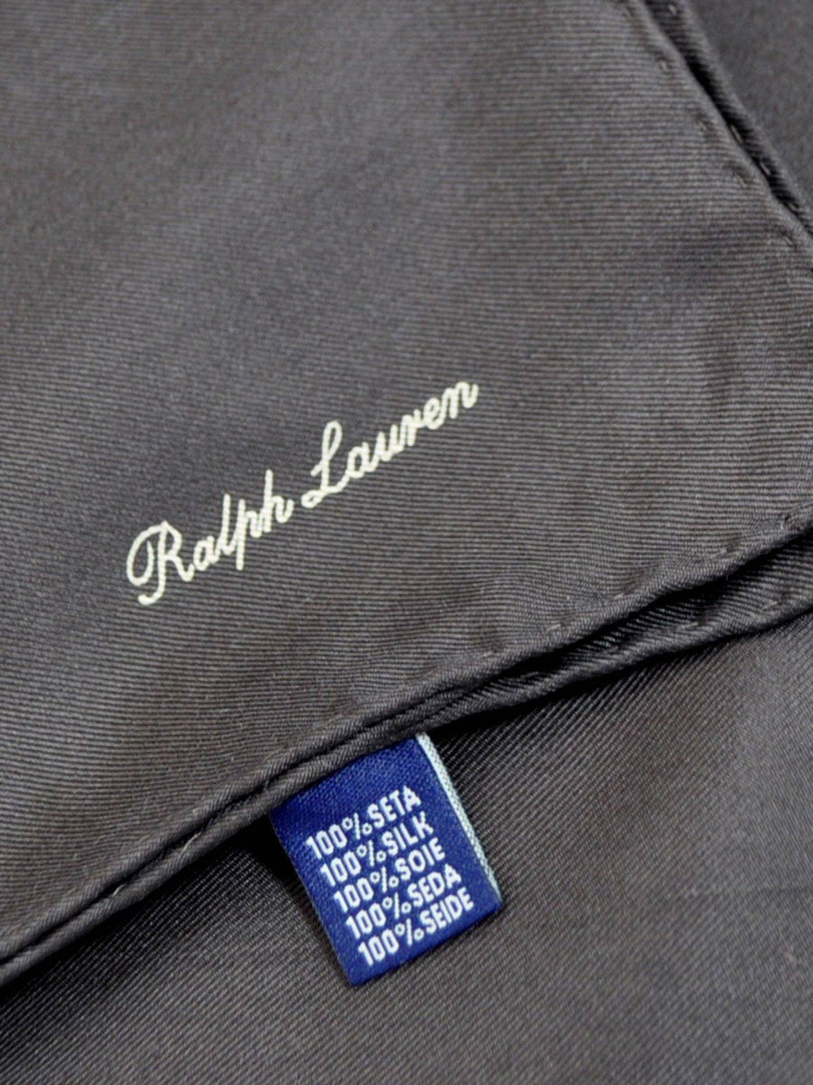 Ralph Lauren Silk Pocket Square Solid Brown SALE