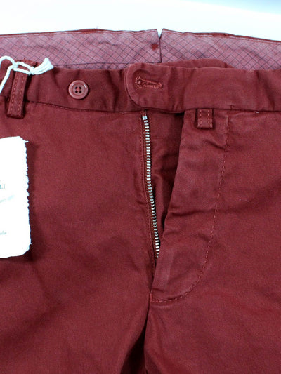 Luigi Borrelli Pants Bordeaux Casual Trousers - Slim Fit 34 SALE
