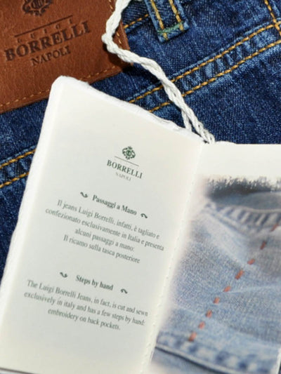 Luigi Borrelli Jeans Dark Denim Blue - Regular Fit 33