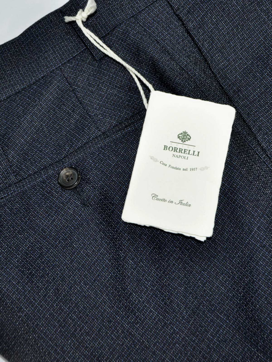 Luigi Borrelli Dress Pants Gray Midnight Blue Wool